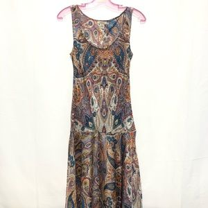 Sundance Silk Paisley Dress Size Small